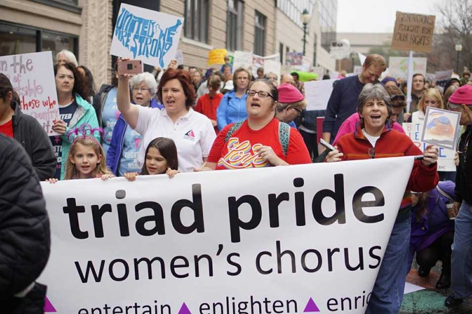 Triad Pride Women's Chorus Social Action